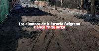 Por un caño roto, la Escuela Belgrano suspende la actividad escolar este viernes