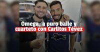 Omega se presentó en el Fuerte Apache... ¡y estaba Carlitos Tévez!