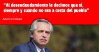 Alberto Fernández habló sobre la deuda en medio de la tensión con el FMI