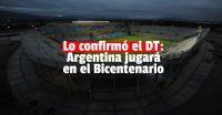 Lionel Scaloni confirmó que Argentina jugará en San Juan contra Brasil