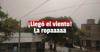 Video: el viento llegó a varios departamentos y ya circulan las primeras imágenes