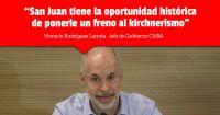 "Rodríguez Larreta invitó a los sanjuaninos a ""ponerle un freno al kirchnerismo"""