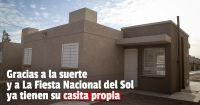 Entregaron las llaves a las 10 familias que ganaron una vivienda en la Fiesta Nacional del Sol
